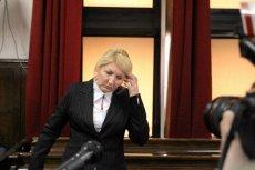 Beata Sawicka na dzisiejszej rozprawie