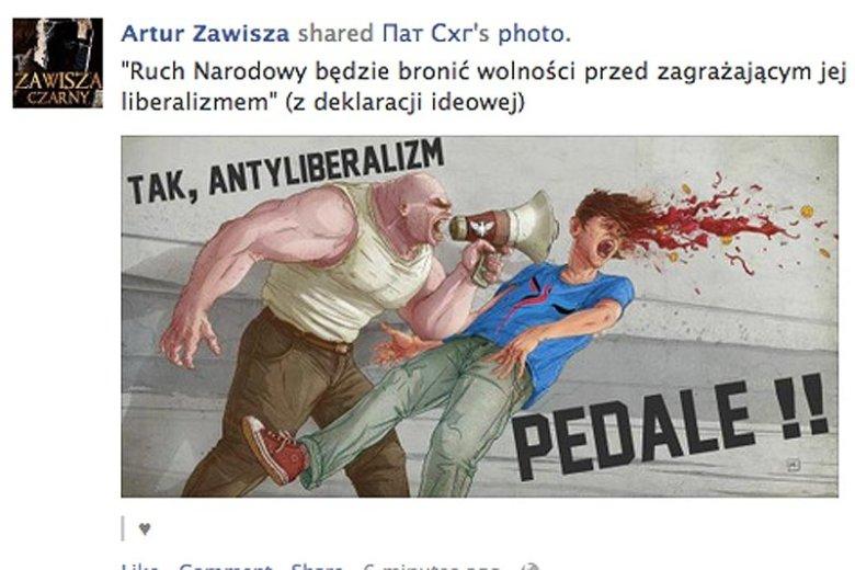 Tak wyglądały świąteczne życzenia Ruchu Narodowego dla Janusza Korwina-Mikke.