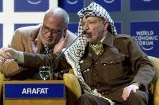 Jasir Arafat podczas Światowego Forum Ekonomicznego w Davos. Rok 2001.