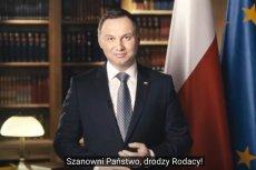 Orędzie noworoczne prezydenta Andrzeja Dudy.