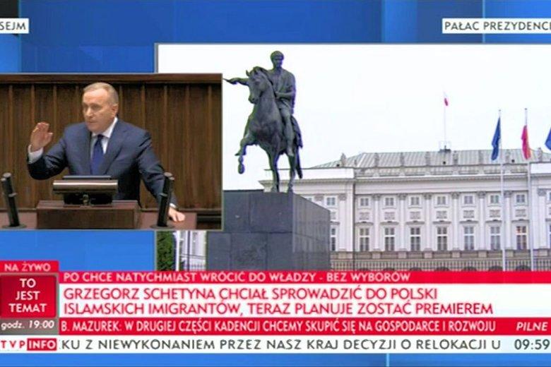 """Tak zwany """"paskowy"""" z TVP Info całkowicie stracił hamulce podczas relacjonowania debaty nad wnioskiem o konstruktywne wotum nieufności wobec rządu Beaty Szydło."""