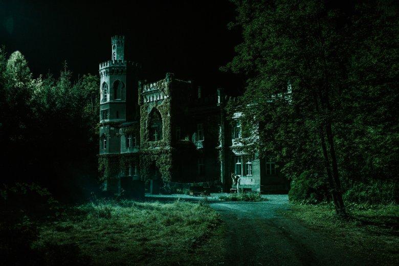 Jest mroczny pałac w lesie, jest klimat