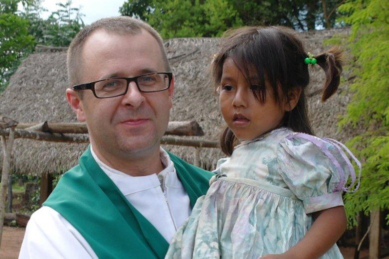 Polski franciszkanin od lat pracujący w Boliwii, o. Kasper Mariusz Kaproń.
