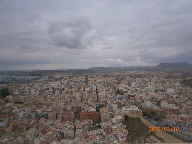 Alicante - widok z zamku Santa Barbara