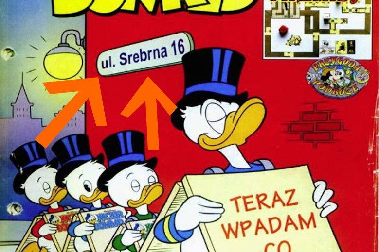 Przy Srebrnej 16 wydawano komiksy z Kaczorem Donaldem.