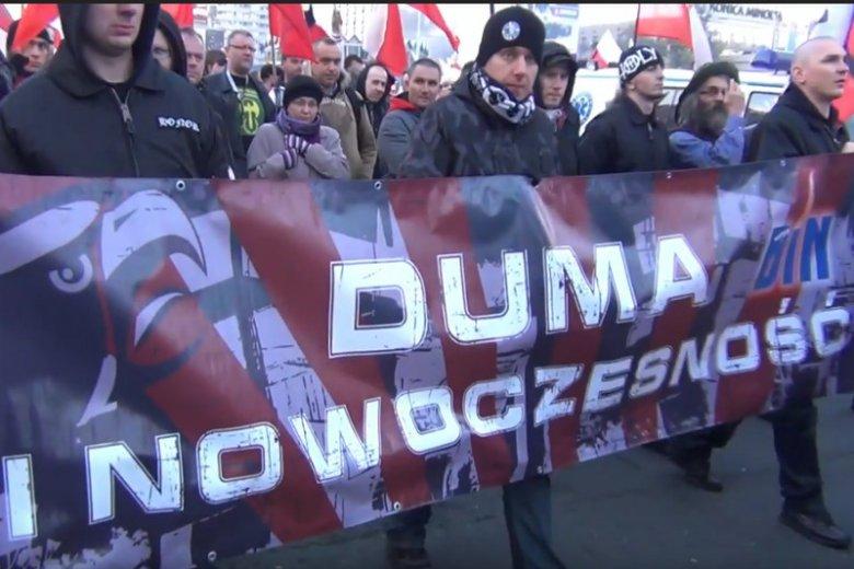 Członkowie organizacji Duma i Nowoczesność wielokrotnie pojawiali się na manifestacjach, choćby w Warszawie.