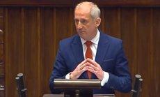 Sławomir Neumann podczas wczorajszego wystąpienia w Sejmie