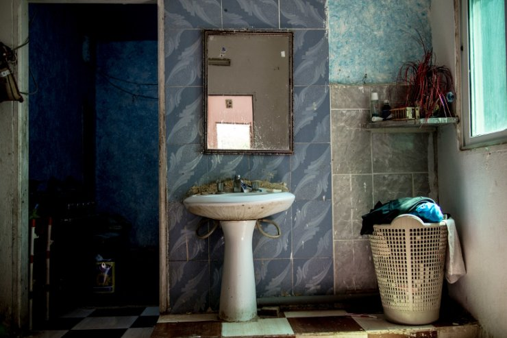 Łazienka w domu rodziny Ajloun