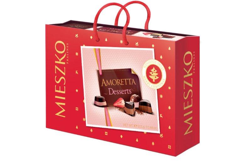 Czekoladka to niepowtarzalny prezent dla wyjątkowej osoby. Amoretta Dessetts 325 g, cena rekomendowana: 19,99zł