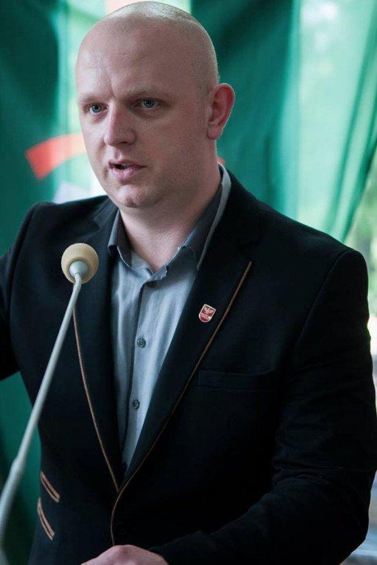Jacek Lanuszny, prezes Ruchu Narodowego w województwie śląskim.