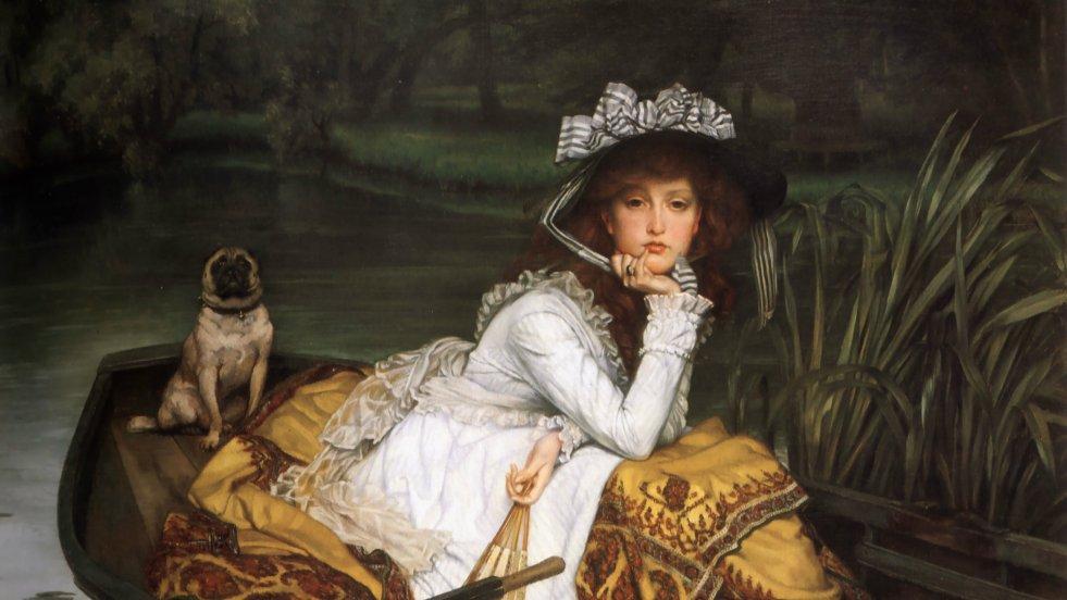 """""""Młoda kobieta w łódce"""", James Tissot, 1870"""