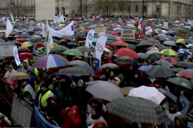 Ostatnie protesty w Budapeszcie.