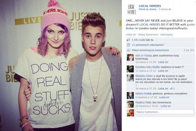 Justin Bieber przyczynił się do ogromnej popularności polskiej marki odzieżowej Local Heroes.