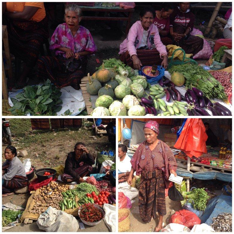 Na targu w Moni. Flores, Indonezja.