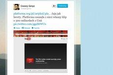 Printscreen z konta Cezarego Gmyza w serwisie Twitter.
