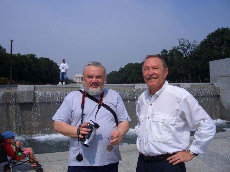 Autor podczas jednego ze spotkań ze współtwórcą Perceptronu, światowej sławy uczonym, profesorem Michalskim.