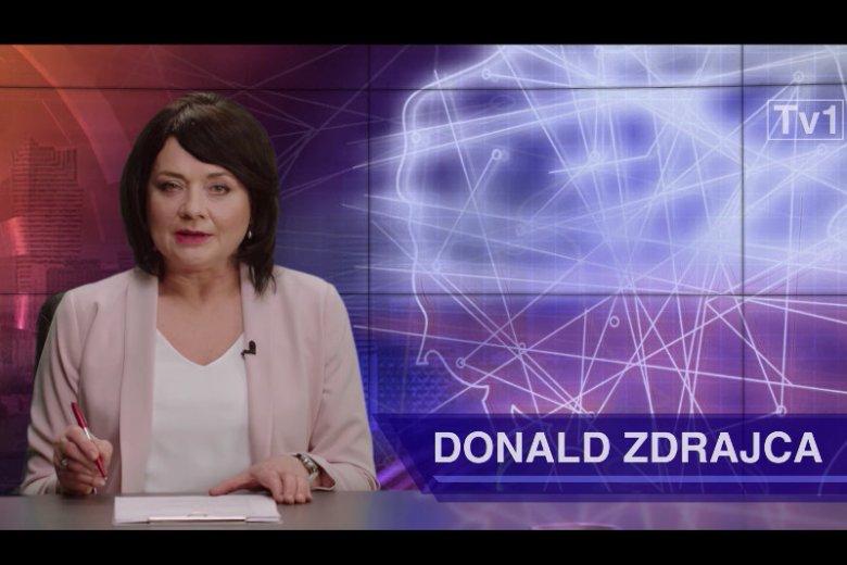 """Małgorzata Ostrowska-Królikowska jako Danuta Holecka w """"Uchu Prezesa""""."""