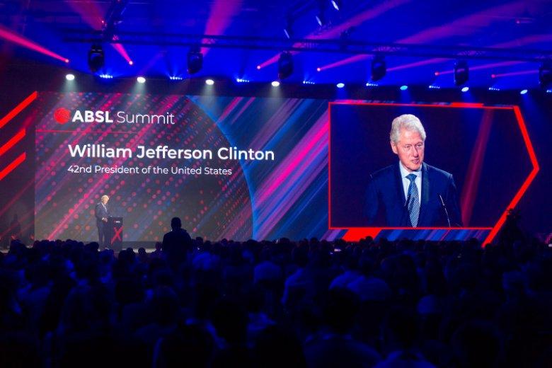 Gościem specjalnym ABSL Summit był 42. Prezydent USA Bill Clinton.