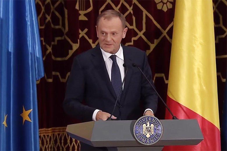 Donald Tusk w Bukareszcie wygłosił po rumuńsku całe przemówienie.
