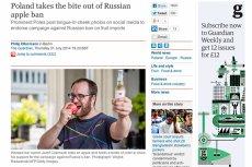 Światowe media piszą o polskiej akcji #JedzJabła