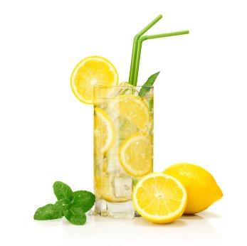 woda mineralna z cytryną