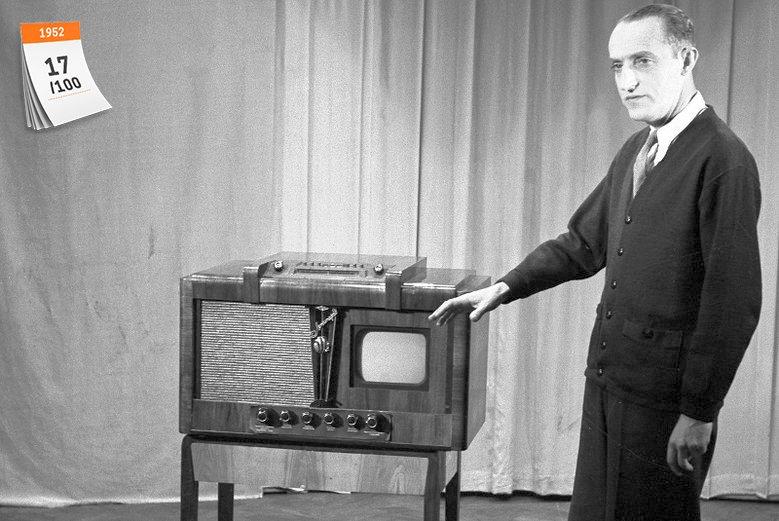 Na odbiornikach telewizyjnych marki ''Leningrad'' widzowie mogli zobaczyć pierwszy eksperymentalny program telewizyjny, jakie nadano 25 października 1952 roku z prowizorycznego studia w Instytucie Łączności