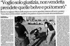 """Wielokrotnie zgwałcona Polka w Rimini udzieliła emocjonalnego wywiadu dziennikowi """"La Repubblica""""."""