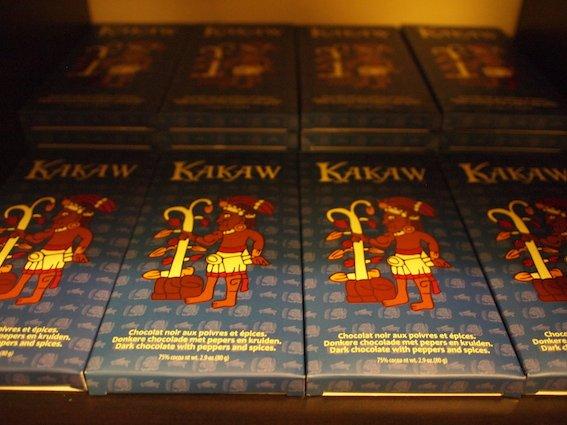 W sklepiku przy Muzeum Czekolady można kupić czekolady według tradycyjnej, pierwotnej receptury z Ameryki Południowej.