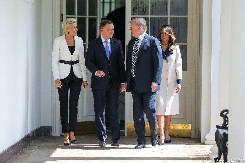 Agata Duda i Andrzej Duda podczas wizyty w USA