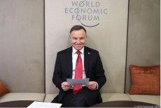 Prezydent Andrzej Duda podczas Forum Ekonomicznego w Davos.