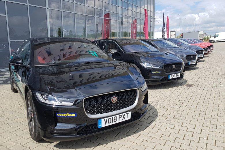 Na prezentację dziennikarską przywieziono kilka najnowszych Jaguarów I-Pace. Każdy z nich był oznaczony jako prototyp.