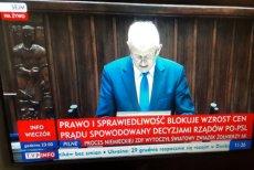 """""""Paskowy"""" TVP Info był dziś w szczytowej formie. Obarczył winą za podwyżki cen prądu rząd PO/PSL."""