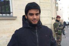Yasin, mieszka w Paryżu od 5 lat.