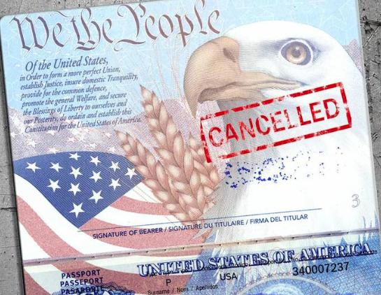 Anulowany paszport Stanów Zjednoczonych