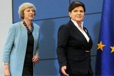 Theresa May i Beata Szydło. Brytyjska premier zwróciła się z apelem do Polaków.