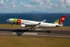 Samolot portugalskich linii lotniczych TAP.
