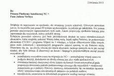"""Fragment listu założyciela """"Anty NC+"""" do prezesa platformy nC+"""