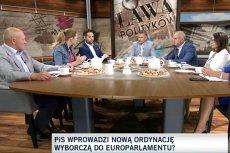"""W programie TVN24 """"Ława polityków"""" rozmawiano o próbie zmiany ordynacji wyborczej w PE."""