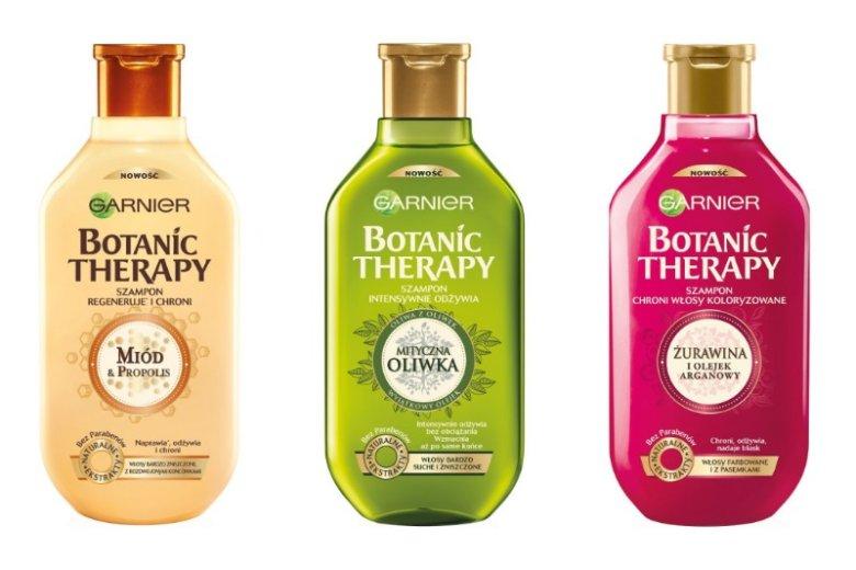 Szampony z serii Garnier Botanic Therapy korzystnie wpływają na wygląd i kondycje włosów