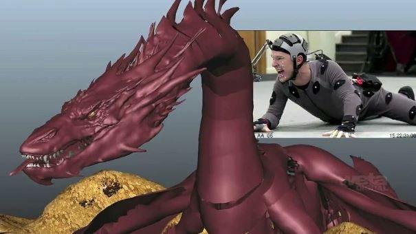 Tak powstawał Smaug - Benedict Cumberbatch w stroju do motion capture.