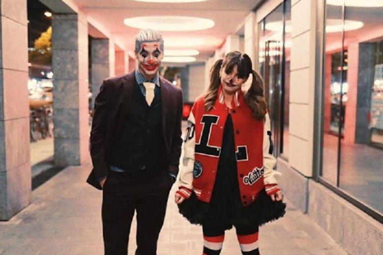 Anna i Robert Lewandowscy w przebraniu na Halloween.