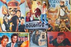 W Afryce plakaty filmowe malowali ręcznie uliczni artyści.