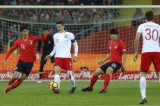 Robert Lewandowski strzelił w pierwszej połowie jednego gola. Koreańczycy nie zdobyli żadnego.