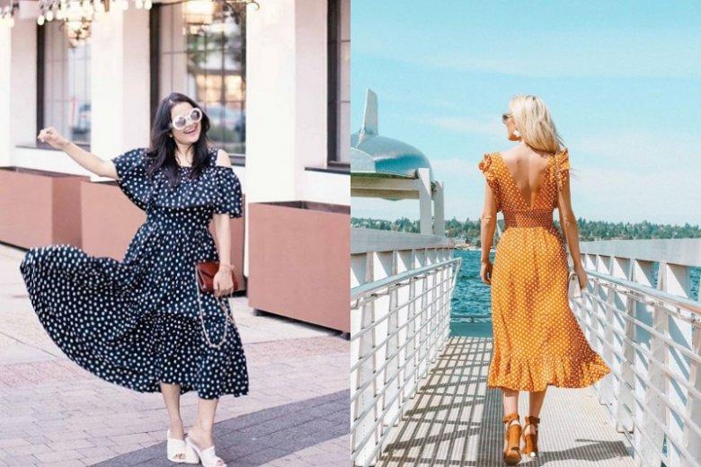 Sukienki w kropki to zdecydowanie jeden z najważniejszych trendów tego lata. Na trwających wyprzedażach fajne modele kupimy za niecałe 100 złotych
