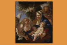 Jezus za biały na barokowym obrazie.