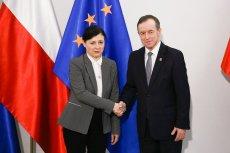 Vera Jourová przebywa z wizytą w Polsce. Spotkała się m.in. z Tomaszem Grodzkim.