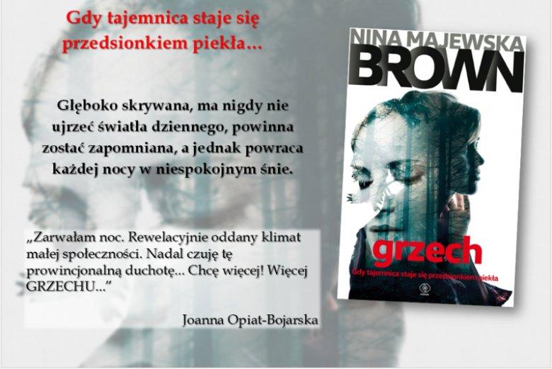 Materiał promocyjny ''Grzechu'', kryminału obyczajowego Niny Majewskiej-Brown