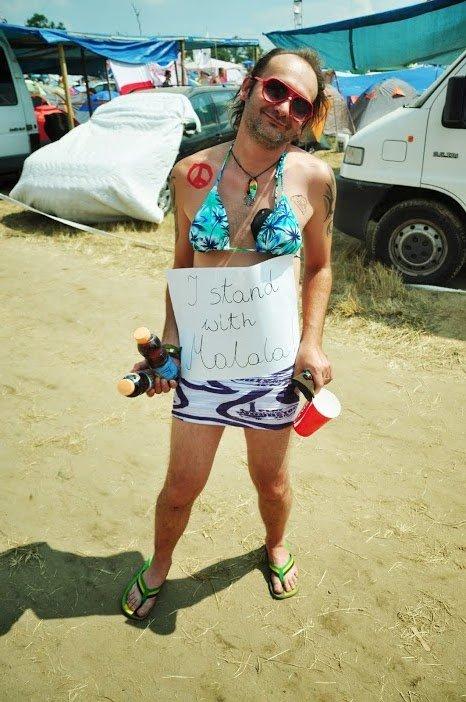Woodstockowicz popierający Malalę