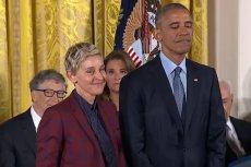 Ellen DeGeneres ze łzami w oczach przyjęła Medal Wolności z rąk Barracka Obamy.