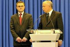 Mecenas Rafał Rogalski i prezes PiS Jarosław Kaczyński